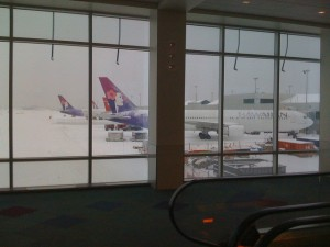 2010 Blizzard causes Flight Cancellations