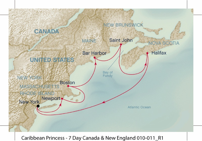 The Caribbean Princess takes New England