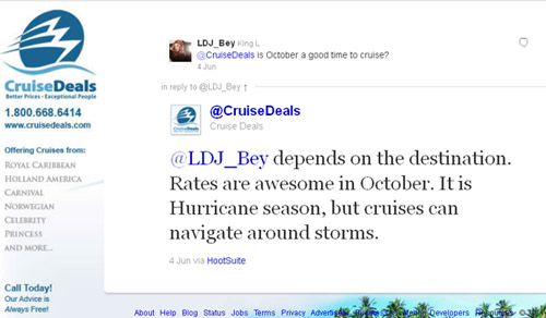 Cruise Deals on Twitter