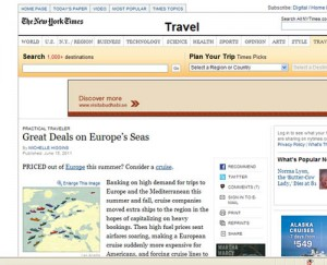 CruiseSource in NY Times Travel