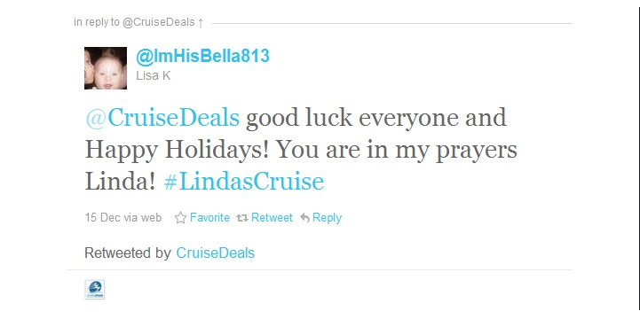 Lindas Cruise Giveaway/Fundraiser Recap & Thank you!