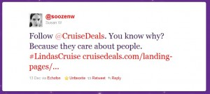 Follow Cruise Deals Tweet