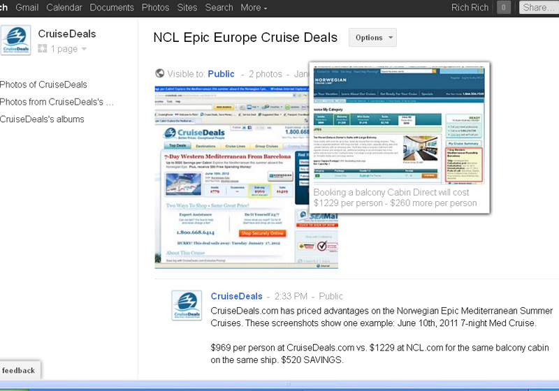 Cruise Deals on Google+, $520 Savings on NCL Epic Europe