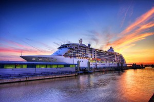 Click to enlarge Regent Seven Seas Voyager Sunset Photo
