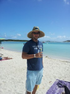 Rich Tucker on Le Galion Beach