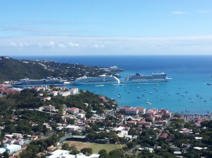 Cruise Ships Docked St Thomas