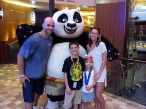 Family Pic with Kung Fu Panda
