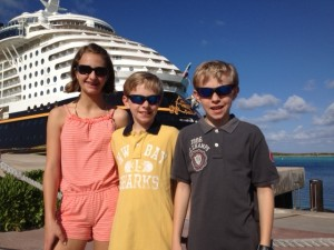 Kids Pic with the Disney Fantasy
