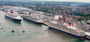 Cunard's Three Queen Ships Together (Photo Courtesy of Cunard Line)