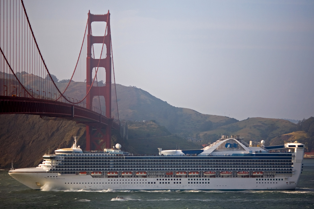 Princess Cruise Ship Golden Gate Bridge Photo