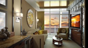 A Signature Suite aboard the Celebrity Reflection