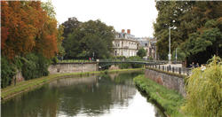 One of the canals in Strasbourg--a uniquely French/German town and home of the European parliament.