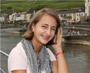 My daughter, Molly, on her first river cruise and first trip to Europe.