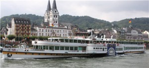 Avalon River Cruise Ship Cruising the Rhine on the way to Koblenz