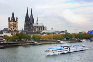 Cologne Cathedral Along Rhine River