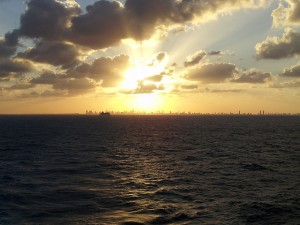 Heavenly Sunset as we sailaway from Miami