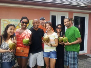Group Photo with Coconut Milk