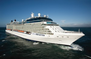The exterior of Celebrity's newest ship, the Reflection