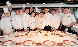 From Holland America blog - Master Chef's Dinner on ms Zuiderdam