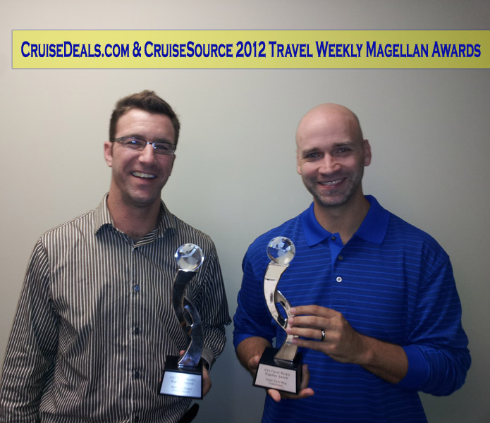 CruiseDeals and CruiseSource Award Winning
