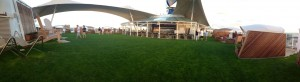 Panaromic shot of the Lawn Club