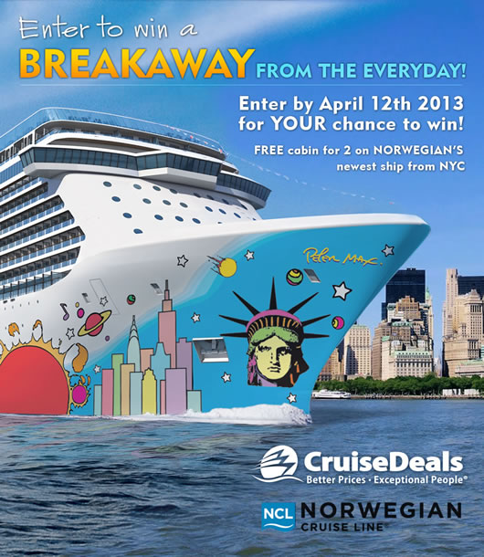 Win Norwegian Breakaway Cruise For 2 Departing Nyc Cruisesource