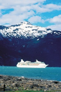 The Rhapsody of the Seas in Alaska.