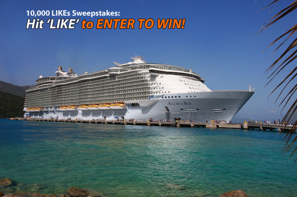 10,000 LIKEs = Allure of the Seas Giveaway