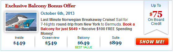 Cruise Deals: Exclusive Norwegian Bonus Offer