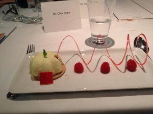 The yogurt mousse dome, just one of the desserts