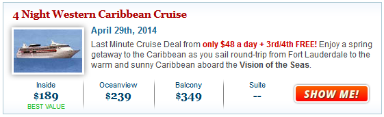 $189 Vision of the Seas + Kids Free