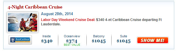 Best Royal Caribbean Labor Day Weekend Deal