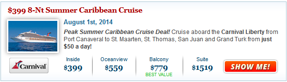 Carnival Liberty Cruise Deal