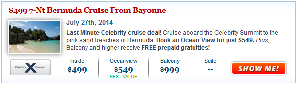 Celebrity Bermuda Cruise Deal