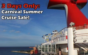3 Day Carnival Summer Cruise sale