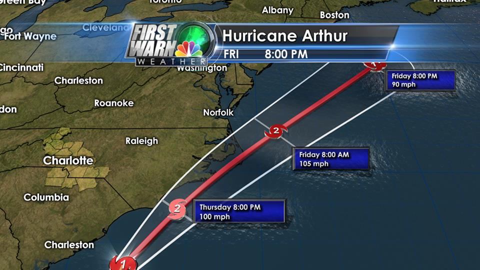 Hurricane Arthur Cruise Impacts