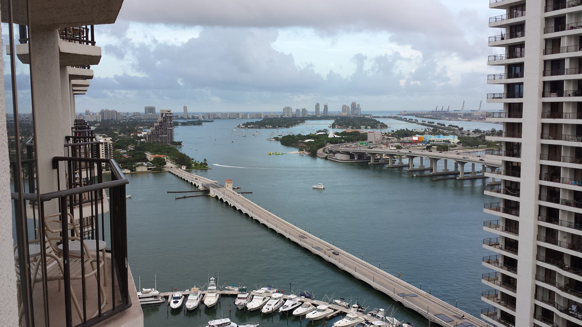 View from marriott biscayne bay