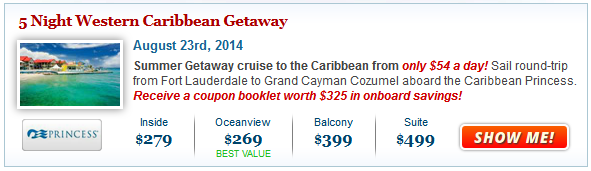 Summer Cruise Deal from $269
