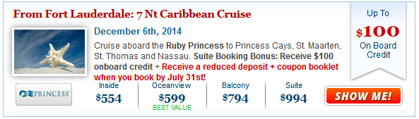 Princess Fall Caribbean Cruise