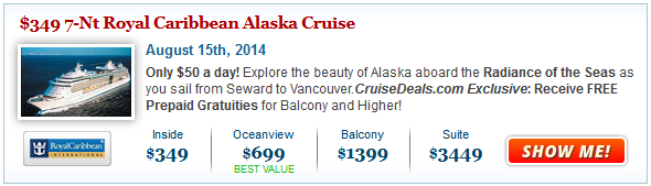 Royal Caribbean Alaska Cruise Deal