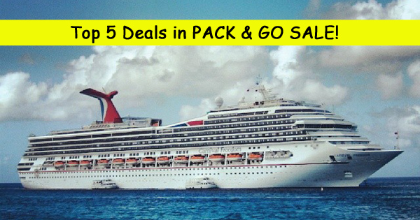 Top 5 Deals in Carnival Pack & Go Sale