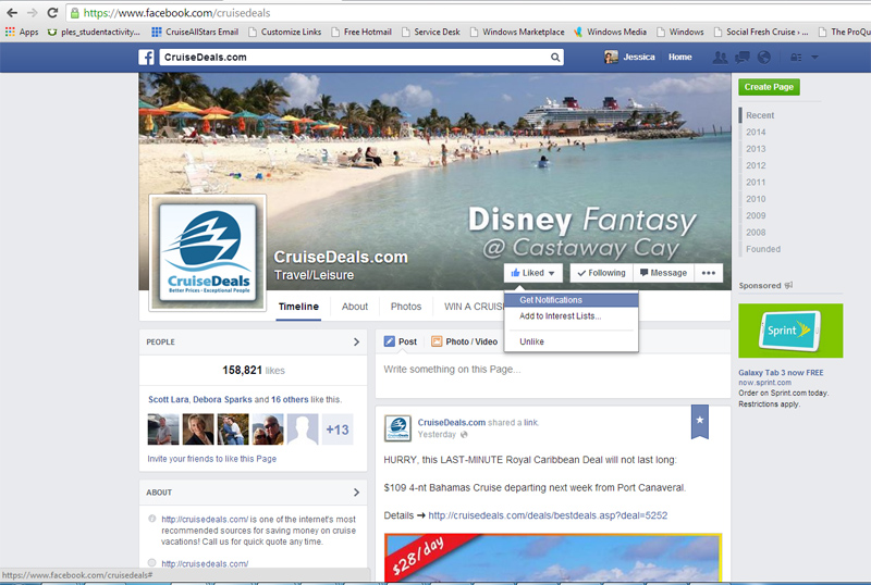 How to Get Cruise Deal Alerts on Facebook