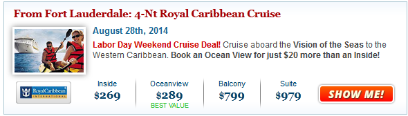 Labor Day Cruise Deals from $149