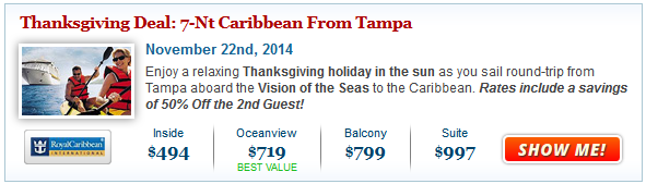 Cruise Deals: 2014 Holiday Cruises from $199