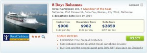 2014 Royal Caribbean Christmas Cruise Deal