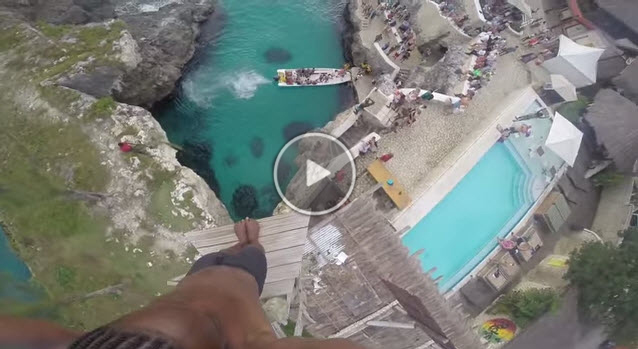Jamaica Cliff Diving GoPro Video at Ricks Cafe