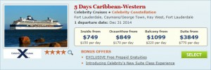 2015 New Years Cruise Deal