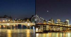 New York City Paris time lapse video