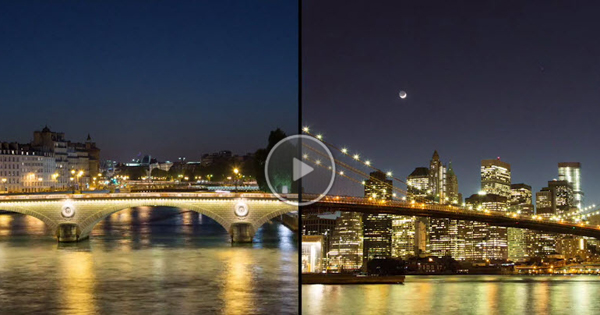 Paris / New York City Time Lapse Video