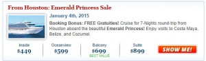Top Cruise Deal in Princess Sale